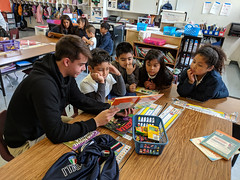 MG20190411-019.jpg (Menlo Photo Bank) Tags: spring reading people classroom upperschool children menloschool bayareatravel largegroup boy student 2019 photobymattgranoff literacyday oliver favorite event atherton ca usa