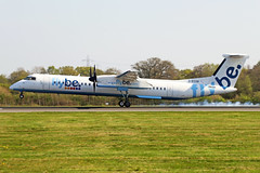 G-ECOR 2 Bombardier Dash 8Q-402 FlyBe Airlines MAN 19APR19 (Ken Fielding) Tags: gecor bombardier dash8q402 flybeairlines aircraft airplane airliner jetprop turboprop regional commuter