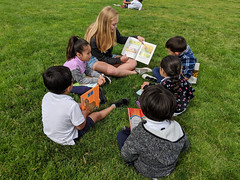 MG20190411-029.jpg (Menlo Photo Bank) Tags: grass spring reading people upperschool children menloschool bayareatravel event largegroup student girl photobymattgranoff literacyday 2019 favorite field atherton ca usa