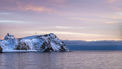 Pink Morning (Danny VB) Tags: pink colors colours morning early winter snow percé gaspésie québec canada neige hiver dannyboy canon 6d