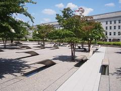 (procrast8) Tags: arlington va virginia national 911 pentagon memorial sculpture light bench washing washington dc district columbia