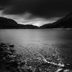 Skeg (Rico the noob) Tags: 2018 d850 lakedistrict landscape nature water outdoor lake stones clouds 2470mmf28e longexposure published beach uk monochrome travel forest trees tree blackandwhite sky 2470mm bw dof