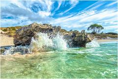 Crashing Waves (mad_ruth) Tags: sky sea beach blue green olympus tg5 waves clouds westernaustralia rottnestisland