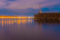 Lyric watercolor palette - Палитра лирической акварели (Valery Parshin) Tags: russia saintpetersburg valeryparshin neva river reflection evening 24mm canoneos70d canonefs24mmf28stm longexposure fortress россия санктпетербург река нева валерийпаршин вечер