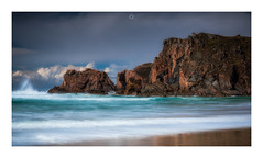 The Brewing Storm (Augmented Reality Images (Getty Contributor)) Tags: nisifilters beach benro canon cliffs clouds coastline islands isleoflewis landscape longexposure mangersta outerhebrides rocks sand scotland seascape spring storm sunshine water waves