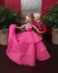 A true princess of heart...Charlotte deserved her happy ending. (xbirthxbyxsleepx) Tags: disney fashion doll ballroom diorama daring charming charlotte labouff the princess and frog happy ending lottie ballgown ooak dance love pink prince