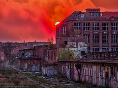 The beauty of the decay1 (Steppenwolf33) Tags: industrial ruin sunset köpenick berlin steppenwolf33 building factory hall graffiti