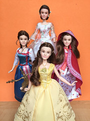 Belle's Wardrobe (honeysuckle jasmine) Tags: emmawatson belle cinderella beautyandthebeast barbie disney