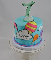 Dr seuss themed smash cake (jennywenny) Tags: dr seuss cloud balloon first birthday colors smash