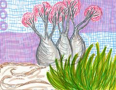 socotra, prelude (○ Hanna Lee ○) Tags: socotra island socotraisland illustration illustrationartist illustrationartists illustrationartwork illustrationart artistsonflickr artistsofflickr trees nature drawing drawings selftaughtartist selftaughtartists