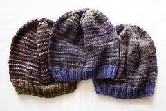 Helix Hat Trio (chavala) Tags: knitting handspun myhandspun hats helix