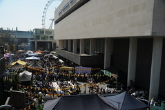 Royal Festival Hall and Food Market at Southbank Centre, London, UK (girasombra) Tags: