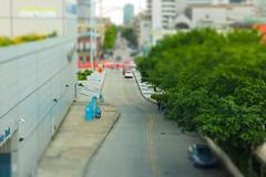 Tilt-shift Downtown 109/365 (Leslie P. H.) Tags: 50mmf18 project365 109365 neworleans 365project tiltshift miniature riverwalk