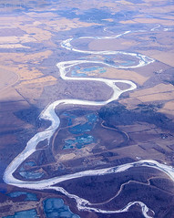 Meandering Prairie River (Gus Thompson) Tags: ice above aircraft flying