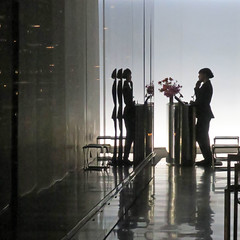 table for three (Jim_ATL) Tags: restaurant concierge silhouette mirror wall reflection newyork explored