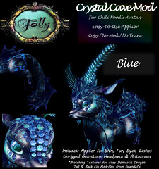 Folly_NoodleMod_CrystalCaveAdBlue (Cane's Folly SL) Tags: cane sutter second life chibi noodle avatars texture mod crystal cave
