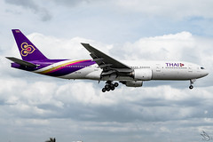 Thai Airways - Boeing 777-2D7 / HS-TJH @ Manila (Miguel Cenon) Tags: tg tg777 tg772 thaiairways thai777 thai772 thai thailand hstjh rpll airplane airplanespotting apegroup appgroup airport philippines planespotting ppsg manila naia nikon d3300 boeing boeing777 boeing772 b777 b772 rollsroyce rrtrent trent800 aircraft jet wings wing widebody widebodyjet window wheel aviation twinengine wide