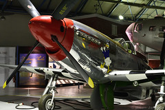 North American P-51D Mustang (413317) (Bri_J) Tags: rafmuseum hendon london uk museum airmuseum aviationmuseum nikon d7500 aircraft northamerican p51 mustang 413317 fighter metal wwii usaaf ddaystripes