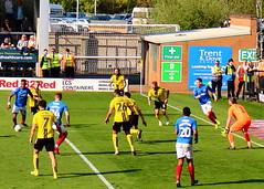 Burton v Portsmouth (Roy Richard Llowarch) Tags: burton burtonalbion burtonalbionfootballclub burtonfc burtonalbionfc brewers thebrewers pirellistadium portsmouth portsmouthengland portsmouthfc portsmouthfootballclub pompey pompeyfc pompeyfootballclub playuppompey pup bluearmy blues theblues football footballstadiums footballgrounds footballfans footballteams footballclubs league1 efl englishfootballleague england english englishheritage englishhistory englishfootballfans englishfootball soccer soccergrounds soccerstadiums soccerclubs soccerteams soccerfans beautifulgame thebeautifulgame outdoor grass sunshine sunny blue yellow white royllowarch royrichardllowarch teams team sports sportstadiums sportsmen sporting