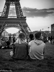 Lovers ? (vladimir78F) Tags: people france streetphotography eiffel paris monochrome blackwhite