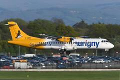 G-VZON ATR72-212A EGCC 20-04-19 (MarkP51) Tags: gvzon atr72212a atr72 aurigny gr aur manchester ringway airport man egcc england airliner aircraft airplane plane image markp51 nikon d500 nikond500 sunshine sunny nikon200500f56vr turboprop