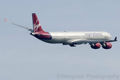 G-VWIN Virgin Atlantic A340-600 London Heathrow Airport (Vanquish-Photography) Tags: gvwin virgin atlantic a340600 london heathrow airport vanquish photography vanquishphotography ryan taylor ryantaylor aviation railway canon eos 7d 6d 80d aeroplane train spotting egll lhr londonheathrow londonheathrowairport heathrowairport