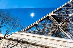 I shot the sheriff (fidgi) Tags: paris toureiffel effeiltower reflet reflection sun soleil bleu blue tree arbre abstract abstrait canon canoneos5dmk3 tamron lumière light ombres shadow