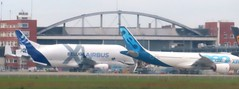 Super Beluga 2 and A330 Neo (kitmasterbloke) Tags: tls toulouse aircraft aviation airliner transport outdoor france