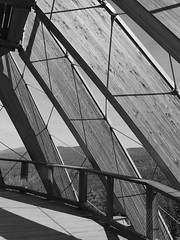 Bavarian-Forest-2018_12 (rhomboederrippel) Tags: rhomboederrippel fujifilm xe1 september 2018 europe germany bavaria nationalpark bayerischer wald neuschönau baumwipfelpfad treetopwalk bw monochrome structurework watchtower