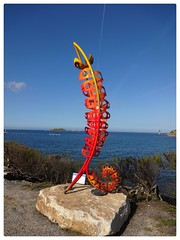 Roscoff Art Work Bretagne (Jane L Edwards) Tags: sculpture art bretagne roscoff