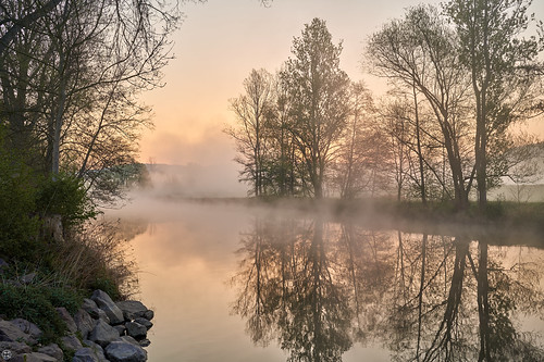 Easter Morning Dawn at Saale River