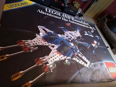 Giant Lego Classic Space advertising poster of 6980, Galaxy Commander, 1984 (Fantastic Brick) Tags: lego classic space advertising poster giant legoland galaxycommander 6980 set 1984
