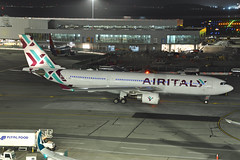 EI-GGR (Rich Snyder--Jetarazzi Photography) Tags: airitaly iss ig airbus a330 a330200 a330202 a332 eiggr departure departing sanfranciscointernationalairport sfo ksfo millbrae california ca airplane airliner aircraft jet plane jetliner ramptowera rcta atower dark night lights