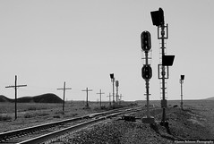 Mixed Signals at Floy (jamesbelmont) Tags: drgw riogrande floy utah signals replacements train railway railroad desert switch switchmachine generalrailwaysignal