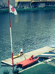 Canottiere (sladkij11) Tags: arno river fiume firenze barca canoa canottiere olympus penf rower remo row