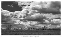 A Country Scene (Michael Besant) Tags: monochrome monochromatic bw michaelbesant byrnemeadowphotography frederickcounty virginiatravelscenicvirginia cloud
