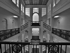 Handwerkskammer Hamburg (petra.foto busy busy busy) Tags: treppenhaus handwerkskammer hamburg kontorhaus germany stairs architektur monocrom symmetrie schwarzweis fotopetra 5dmarkiii