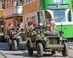 World War II Home Front (grab a pic) Tags: canoneos5dmarkiv canon eos 5d britain uk england derbyshire crich crichtramwayvilage 1940sweekend 2019 reenactment livinghistory war worldwar2 ww2 wwii 1940s oldfashioned vintage man uniform tram jeep para paratroopregiment