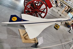 If only , Concorde promotioinal model in Lufthansa markings . (Bob Symes) Tags: concorde lufthansa jetagemuseum staverton sst modelaircraft