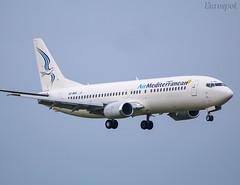 SX-MAH Boeing 737 Air Mediterranean (@Eurospot) Tags: sxmah boeing 737 737400 airmediterranean toulouse blagnac