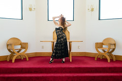 Chapel at the Museum of History in Granite (Laveen Photography (aka cyclist451)) Tags: douglaslsmith felicity laveenphotography museumofhistoryingranite naturallight ambientlight fashion ginger redhead tanirogue ca california imperialdunes phoenix themuseumofhistoryingranite winterhaven unitedstatesofamerica