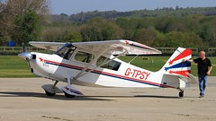 G-TPSY Champion 8KCAB Super Decathlon (BIKEPILOT, Thx for + 5,000,000 views) Tags: gtpsy champion 8kcab superdecathlon goodwood aerodrome circuit uk england britain westsussex eghr airfield airport aircraft aeroplane aviation flight flying red white blue man person
