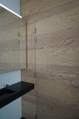 2019-04-FL-208488 (acme london) Tags: bathroom exhibition fondationlafayette museum oma paris ply plywood plywoodcladding remkoolhaas timber timberwalls toilet walls