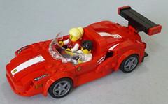 Lego Ferrari 488 GT3 2-seat Convertible (markhchan) Tags: lego ferarri scuderia corsa gt3 488gt3 convertible red speed speedchampions car sports sportscar 2seat passenger minifig minifigure