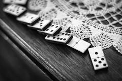 Dominoes (Rich Presswood) Tags: mono monochrome bw blackandwhite silverefexpro2 fujixpro2 fuji kamlan50mmf11 availablelight adobelightroom manualfocus xpro2 nationaltramwaymuseum