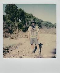 Chad at TUZIRAP (EllenJo) Tags: polaroid instantfilm 2019 ellenjo sx70 april2019 tuzirap tuzigootriveraccesspoint clarkdalearizona clarkdaleaz verdevalley riparian