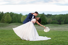 Dip back for a kiss on the golf course - River Ridge Golf Club (Ryan Smith Photography) Tags: riverridgegolfclub bride cheetahstand dip fun golfcourse groom offcameraflash romantic softbox sunset wedding weddingphotography myrtlebeach httpswwwryansmithphotographycom