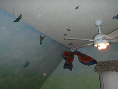 Ruth's Visit in June 2009 (Pictures by Ann) Tags: ruthsvisit ruth 2009 june2009 ceiling sophia butterflies bedroom