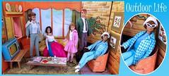 OUTDOOR LIFE (ModBarbieLover) Tags: 1965 barbie midge allan doll mattel vintage toy dream house fashion casual sportswear blue outdoor life 1964 skipper