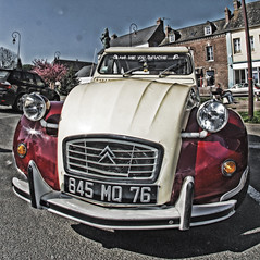 Auffay voitures (IM@GE Communication Photo Video) Tags: voiture car collection hdr fisheye samyang sony ilca77m2 citroen dolly 2cv